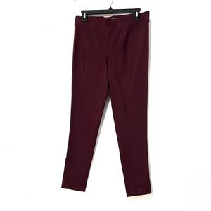 Vince Camuto maroon leggings size small.